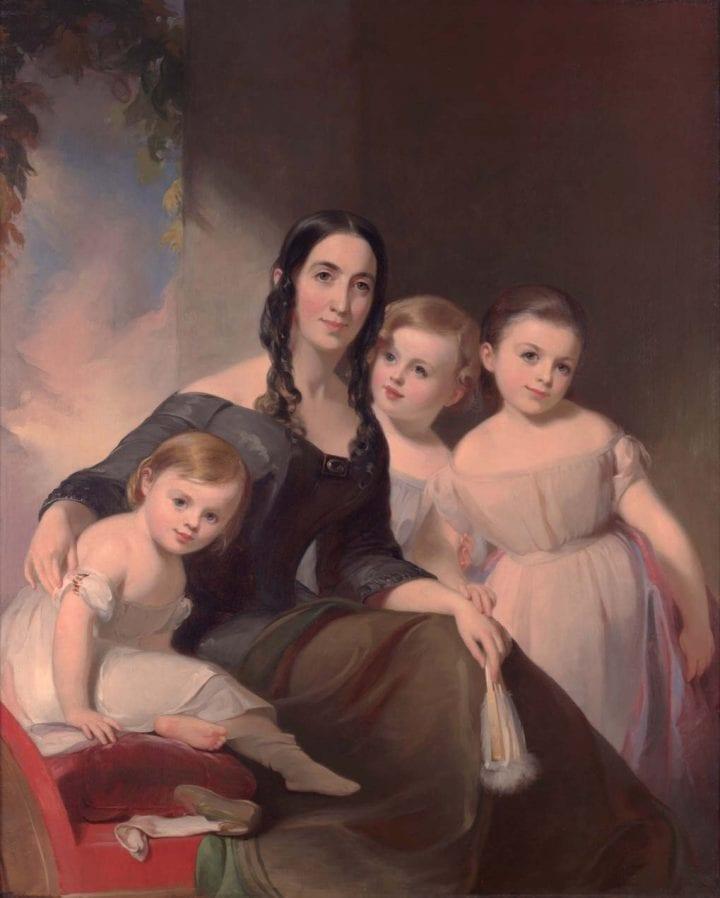 Portrait of Mrs. James Robb and Her Three Children
