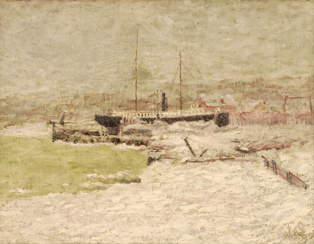 Ice Storm on the Mississippi River