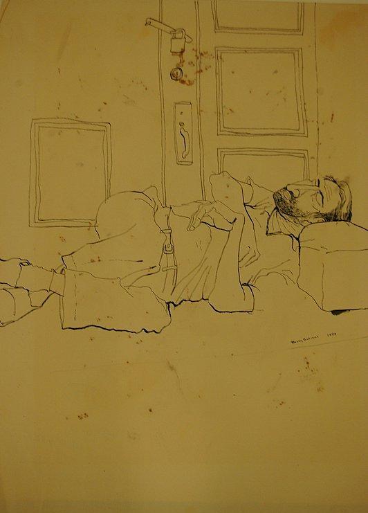 Bowery (Man on Step Sleeping)