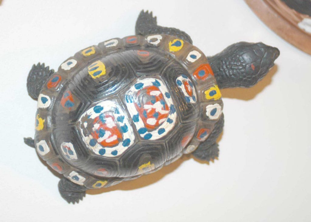 Painted black turtle
