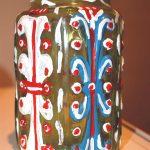 Painted glass jar