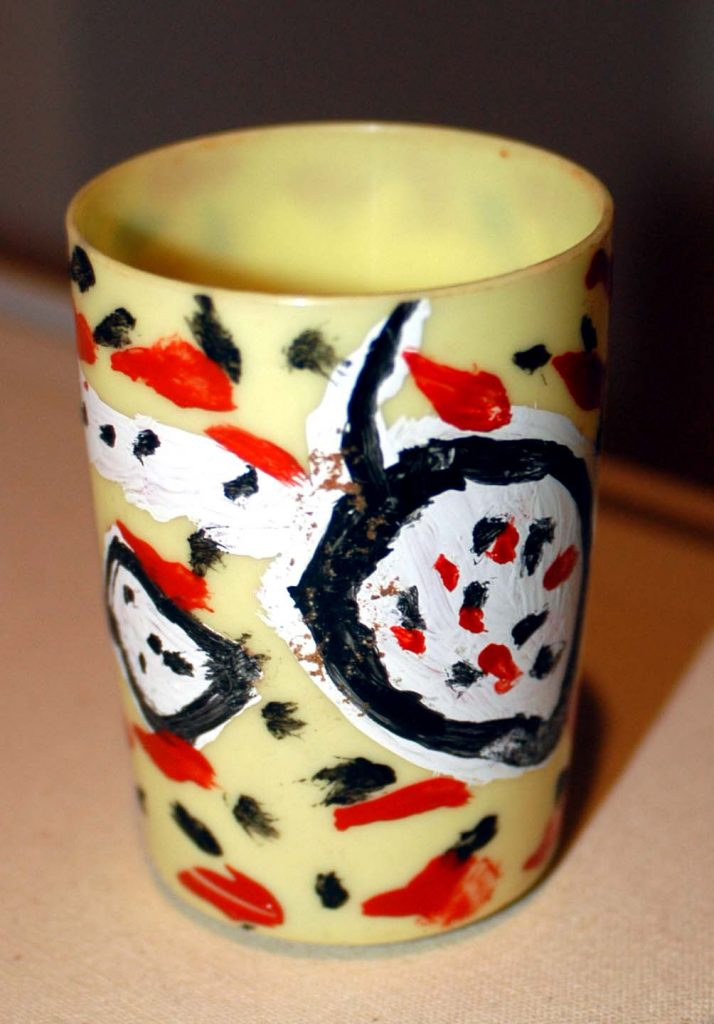 Painted Yellow Cup