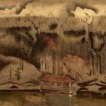 Untitled [House Boat on Bayou]