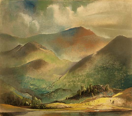 Untitled, Mountain Landscape with Lake