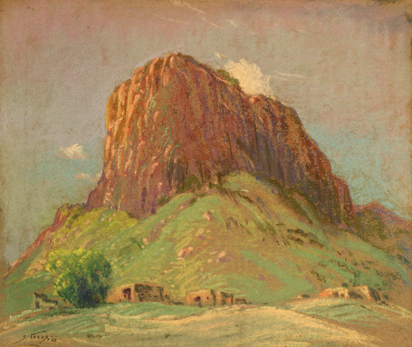 Untitled [Southwest Landscape with Adobe Houses]