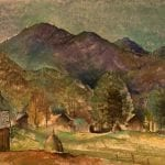 Untitled [Farm with Mountain Landscape]