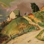 Untitled [Farmhouse on Hill]