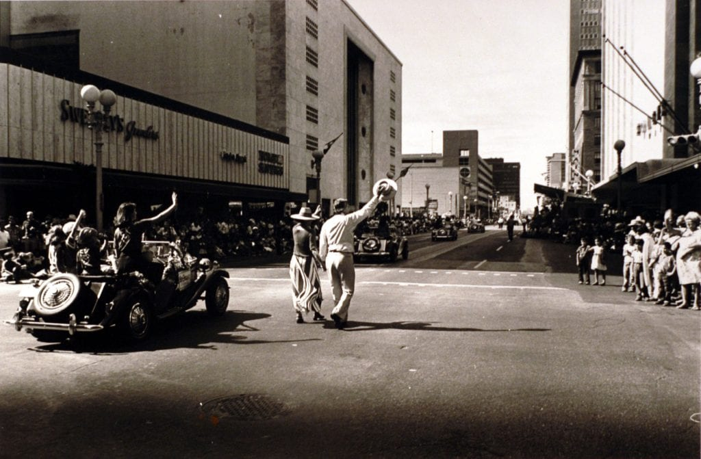 Parade in downtown Houston