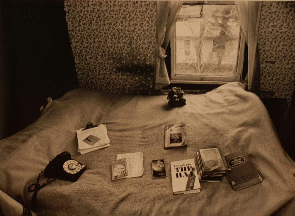 Her bed filed with reading materials
