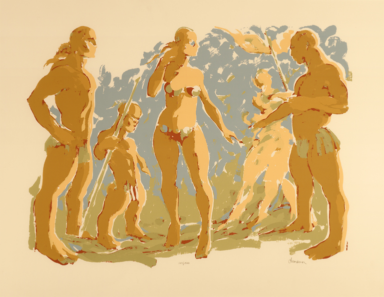 Beach Scene with Seven (CAC Print)