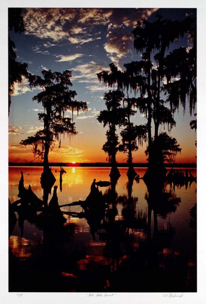 Flat Lake Sunset