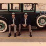 Eph and Ed (on Their Car)