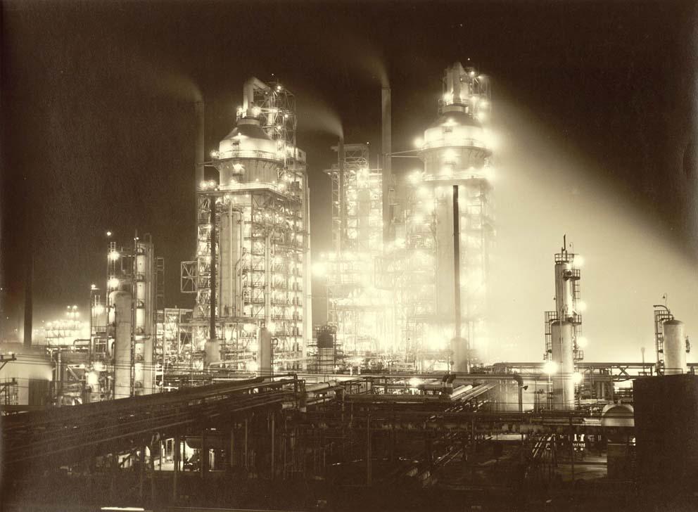 Esso Refinery At Night (Baton Rouge, La)
