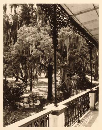 Wrought Iron Porch, Belle Alliance, Bayou Lafourche (Near Thibodeaux)