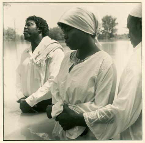 Baptism of Cheronda Brown, Stamps Lake, 1990