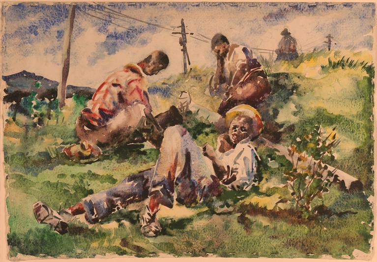 Workers At Break