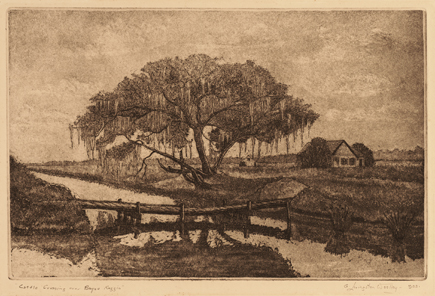 Cattle Crossing over Bayou Reggio