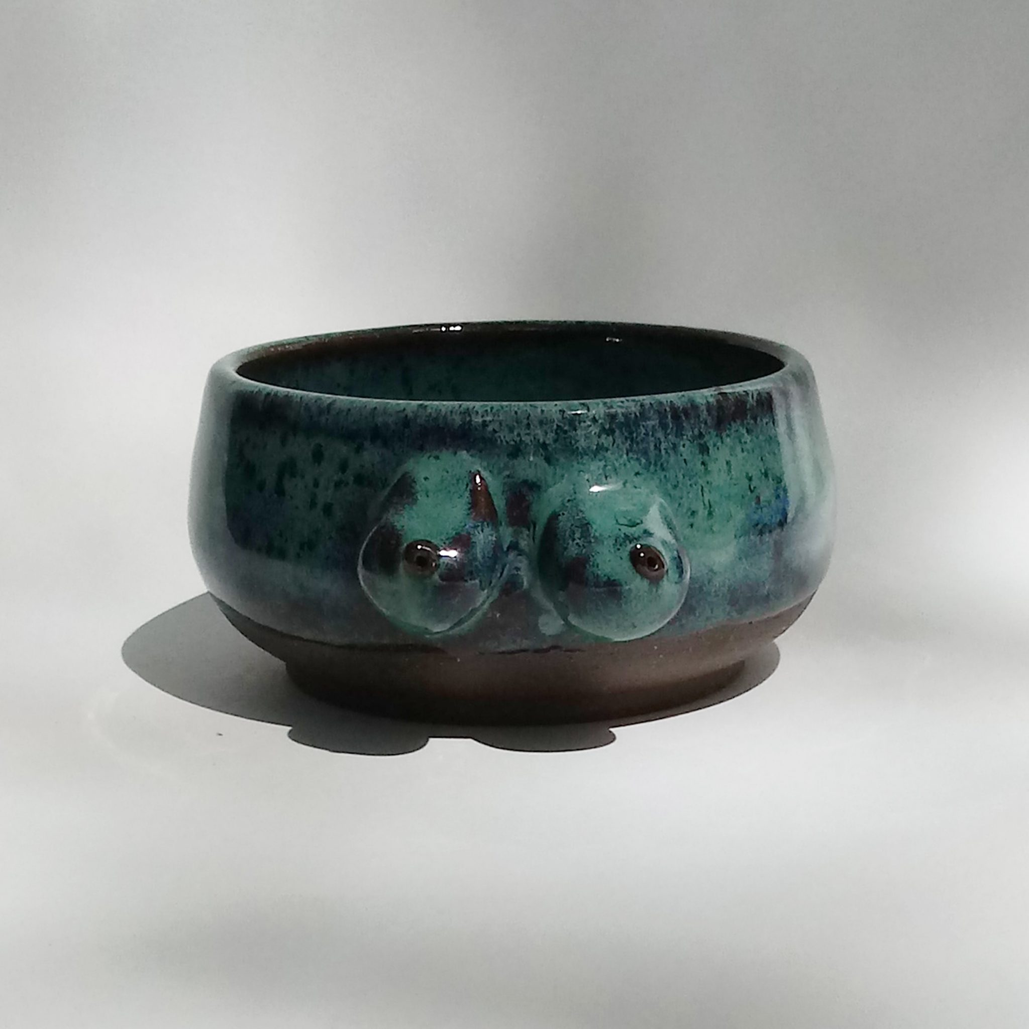 Boob Bowl/Tatas Teacup -Royal Green